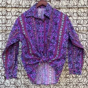 Retro 90s western style button down shirt